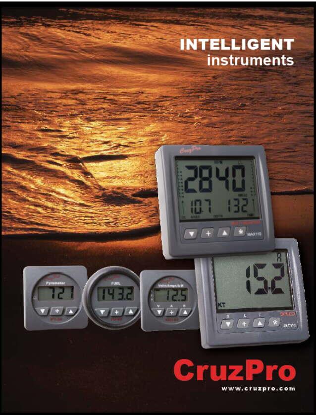 CruzPro electronic boat instruments, alarms, digital gauges