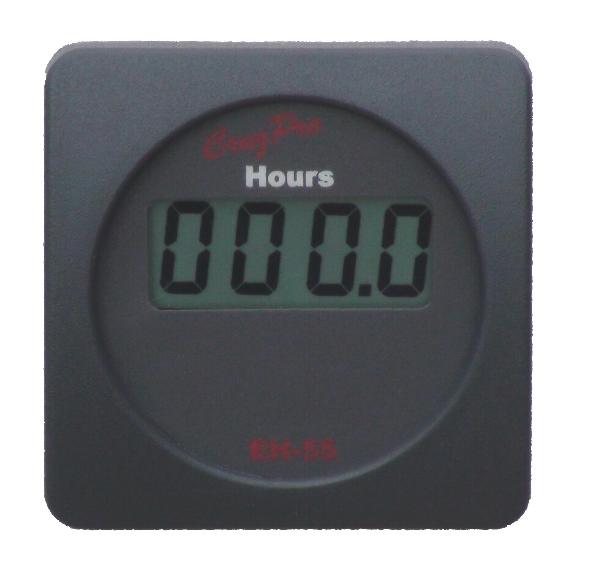 cruzpro eh55 simple digital engine hours and elapsed time gauge rh cruzpro com