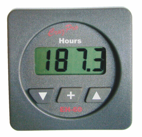 EH60 Digital Engine Hours and Elapsed Time Gauge with Maintenance Alarm