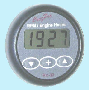 RH30 Digital Tachometer, Engine Hours and Elapsed Time Gauge with Alarms