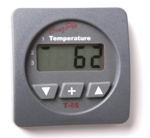cruzpro t35 and t65 temperature gauge for three zones user s manual pdf new square t65s t65 three zone temperature gauge