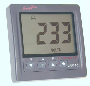 VAF110 AC Volts/Amps/Frequency/kW Monitor/w NMEA 0183 & Alarms