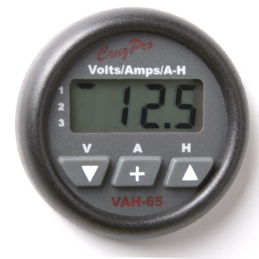 VAH65 Thee Bank Volts/Amps/Amp-Hour 		Monitor